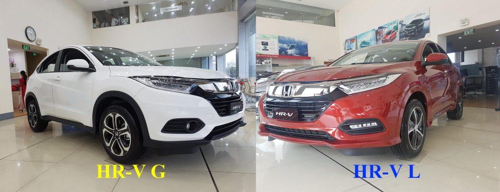 Điểm khác nhau giữa Honda HRV G và L