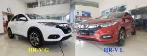 Điểm khác nhau giữa Honda HR-V phiên bản G và L