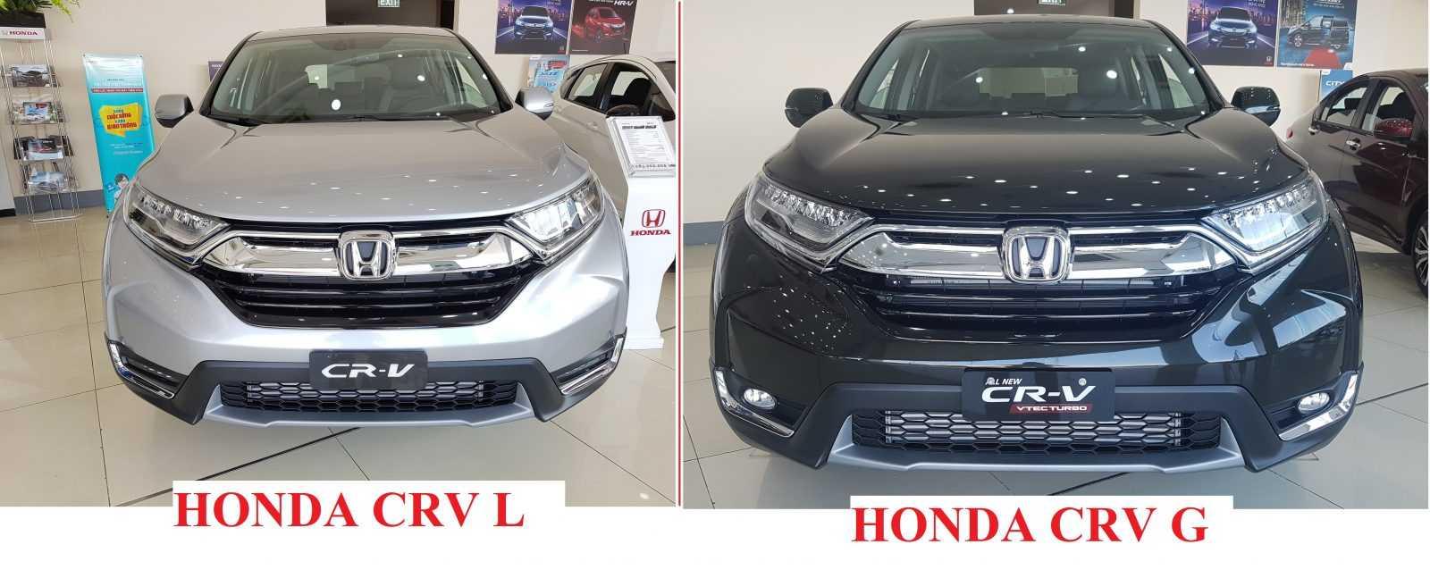 Điểm khác nhau giữa Honda CRV G và Honda CRV L