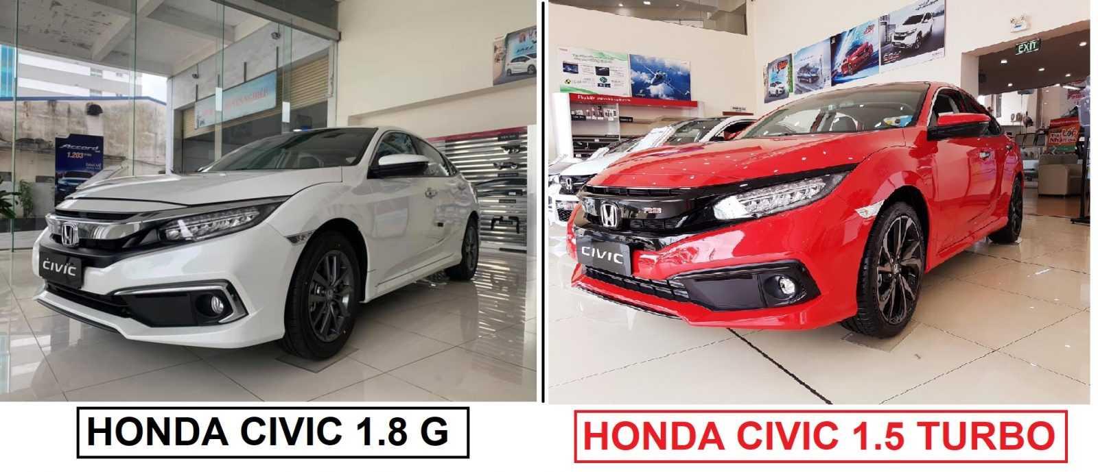 Điểm khác nhau giữa Civic 1.8G và Civic 1.5 Turbo RS