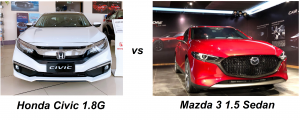 So sánh Honda Civic và Mazda 3 1.5 Sedan